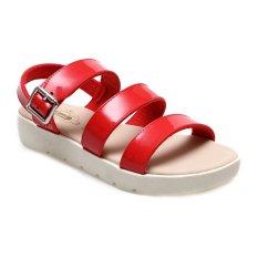 Carvil Proper 01L Casual Sandal Wanita Merah Carvil Diskon 40