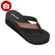 Toko Carvil Riona L Ladies Sandal Sponge Black Beige Terlengkap Di Indonesia
