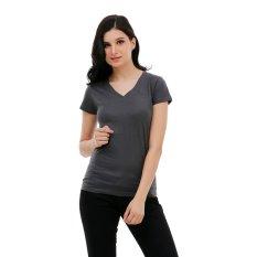Promo Carvil Viola Kaus Wanita Dark Grey Akhir Tahun
