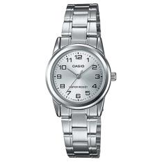 Casio Analog Jam Tangan Wanita - Silver - Strap Rantai - LTP-V001D-7B
