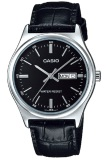 Casio Analog Watch Jam Tangan Pria Hitam Genuine Leather Band Mtp V003L 1Audf Casio Diskon