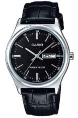 Dapatkan Segera Casio Analog Watch Jam Tangan Pria Hitam Genuine Leather Band Mtp V003L 1Audf
