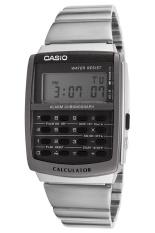 Casio Calculator Jam Tangan Pria - Silver - Strap Rantai - CA-506-1D