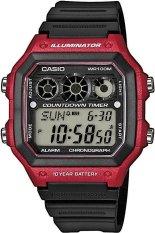 Casio Digital Jam Tangan Pria Hitam Strap Karet Ae 1300Wh 4A Diskon Akhir Tahun