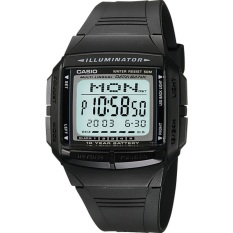 Casio Digital Jam Tangan Pria - Hitam - Strap Karet - DB-36-1A