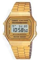 Spesifikasi Casio Digital Jam Tangan Wanita Gold Strap Rantai A 168Wg 9W Terbaik