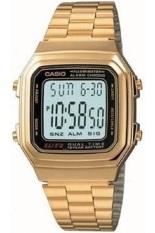 Casio Digital Jam Tangan Wanita - Gold - Strap Rantai - A-178WGA-1A