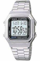 Harga Casio Digital Jam Tangan Wanita Silver Strap Rantai A 178Wa 1A Fullset Murah