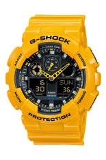 Beli Barang Casio G Shock Men S Kuning Resin Strap Watch Ga 100A 9A Online