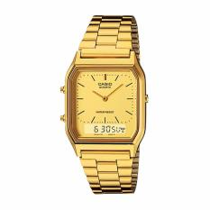 Beli Casio Analog Digital Aq 230Ga 9Dmq Jam Tangan Unisex Gold Stainless Steel Band Baru
