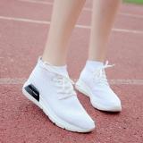 Toko Jual Cass Musim Semi Baru Keelastikan Rajutan Sepatu Sepatu Running 8611 Putih