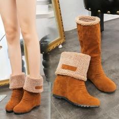 Casual 2017 Musim Gugur And Musim Dingin Memakai Dua Boots Sepatu Boots Wanita Boots Salju Boots Versi Korea dari Kasar With Martin Boots