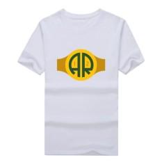 Kasual Pria Bay QB Aaron Rodgers Kaus Katun Streewear Perhatian Pria Lengan Pendek Kaus Kaus Atasan Putih-Internasional