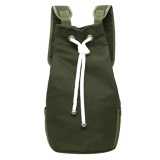 Spesifikasi Casual Men Canvas Large Capacity Barrel Backpack Sport Outdoor Backpack Army Green Intl Murah Berkualitas