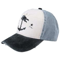 Diskon Produk Kasual Pola Cetak Colorful Block Cap Hat Hitam Intl