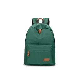 Casual Solid Women Backpack Tas Sekolah Kapasitas Besar untuk Remaja Girls Simple Travel Bags Lady Back Pack Backpack (Dark Hijau) -Intl