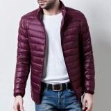 Harga Casual Stand Collar Portable Light Down Jaket Untuk Pria Anggur Merah Intl Yg Bagus