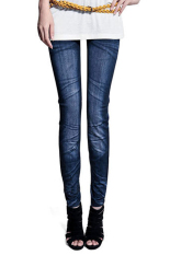 Spesifikasi Casual Tights Stretch Skinny Pants Jean Legging Biru Oem