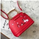 Jual Cat Embroidered Premium Top Handle Satchel Bag Tas Selempang Wanita Women Handbag Original