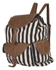 Catenzo Casual Backpack/Bisa Buat Sekolah/Kuliah - Canvas - Strip Belang 420 Tp 019