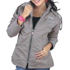 Catenzo Casual Parka Jacket Mayer Women - Jaket Wanita - Cream