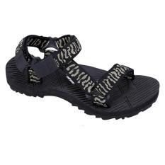 Catenzo Df 048 Therapy Footwear Bio Natural Quantum Energy Pria Tracking/Casual-Webbing-Sponge Outsole-Nyaman Di Pakai (HITAM)