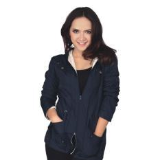 Catenzo Di 051 Jaket Parka Wanita-Mayer-Cantik Bagus(Biru Navy)