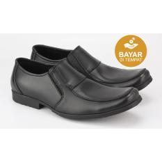 Toko Catenzo Exclusive Sepatu Formal Pantofel Kulit Pria Hitam Termurah