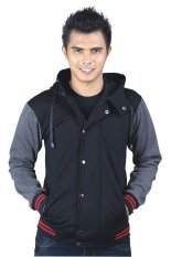 Catenzo Jacket Elastic Black Hr 077 Hitam Original