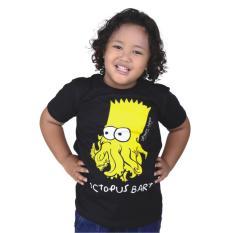 Catenzo Junior Cps 044 Kaos Oneck Casual Anak Laki-Laki-Cotton-Keren (Hitam)