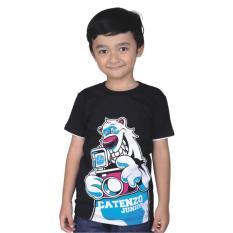 Catenzo Junior Cps 045 Kaos Oneck Casual Anak Laki-Laki-Cotton-Keren (Hitam)
