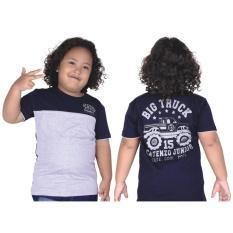 Catenzo Junior Cps 049 Kaos Oneck Casual Anak Laki-Laki-Cotton-Keren (Biru Navy)