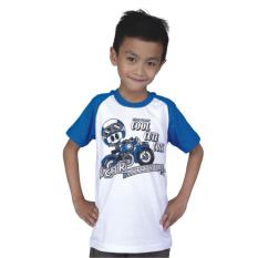 Catenzo Junior Cps 050 Kaos Oneck Casual Anak Laki-Laki-Cotton-Keren (Putih)