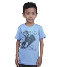 Catenzo Junior Cps 051 Kaos Oneck Casual Anak Laki-Laki-Cotton-Keren (Biru Muda)