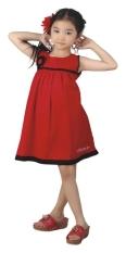 Beli Catenzo Junior Dress Anak Merah Polet Hitam Simple Sleeveless Terbaru