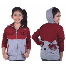 Jual Catenzo Junior Jaket Anak Perempuan Cdix124 Grey Comb Catenzo Junior Original
