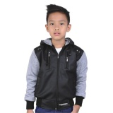 Promo Catenzo Junior Jaket Casual Sekolah Anak Laki Laki Cdi120 Best Seller Boys Casual Hooded Jaket Hitam Catenzo Junior Terbaru