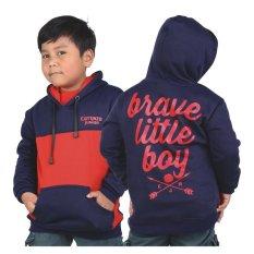 Spesifikasi Catenzo Junior Jaket Sweater Fleece Anak Laki Laki Navy Blue Lengkap Dengan Harga