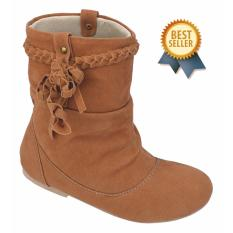 Beli Catenzo Junior Sepatu Boot Anak Perempuan Cta 014 Tan Oktopus Kredit
