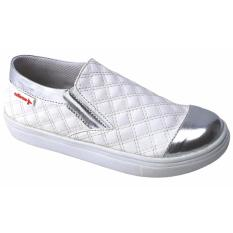 Promo Toko Catenzo Junior Sepatu Slip On Anak Cewek Capx206 Silver White