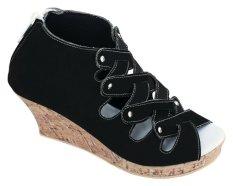 Catenzo Junior Sepatu Wedges Anak - Elegan CMPx536 Black