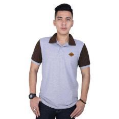 Catenzo PL 915 Poloshirt Pria - bahan lacoste - keren dan gaul (grey)