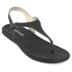 Model Catenzo Ry 478 Flat Black Women Sandals Terbaru
