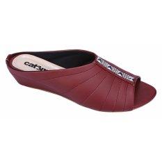 Catenzo Sandal Flat Wanita RTx161 Maroon
