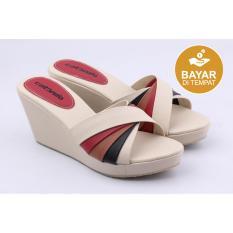 Spek Catenzo Sandal Wedges Wanita Ay 583 Cream Jawa Barat