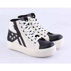 Catenzo Sepatu Ankle Boot Wanita Dox011 Hitam Putih Jawa Barat Diskon 50