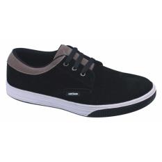 Catenzo Sepatu Casual Kets Sneakers Sporty Pria - Hitam-Cream TFx105
