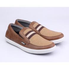 Harga Catenzo Sepatu Casual Slip On Pria Ntx042 Brown Catenzo