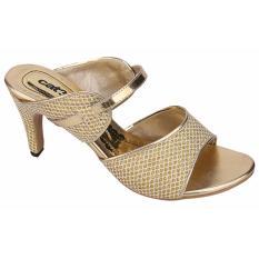 Jual Catenzo Sepatu Heels Tax459 Dark Gold Branded Murah