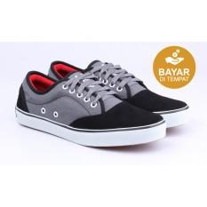 Catenzo Sepatu Kets - Casual Sneakers Mix - Hitam-Abu Abu